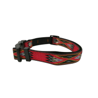 Collar Toto textile red pattern 2x40