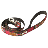 Leash Toto textile red pattern 2x150
