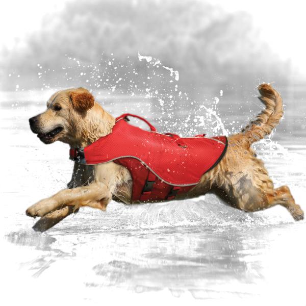SURF N TURF DOG LIFE JACKET Rot L